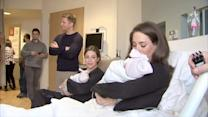 Twin Sisters Give Birth in Same Hospital Minutes Apart