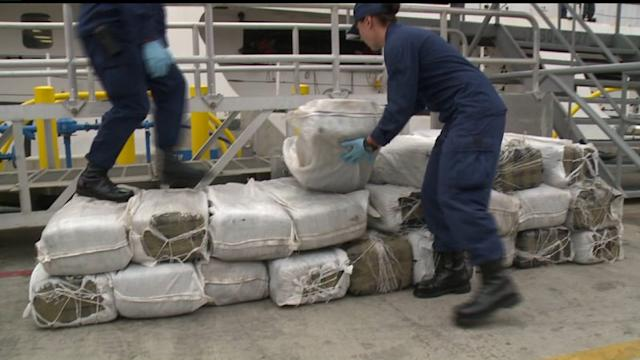 Coast Guard scoop $28M of drugs floating in ocean