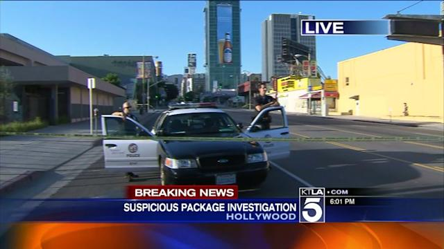Bomb Squad Shuts Down Part of Hollywood