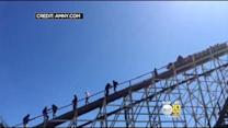 Coney Island Cyclone Gets Stuck On First Public Ride Of Season