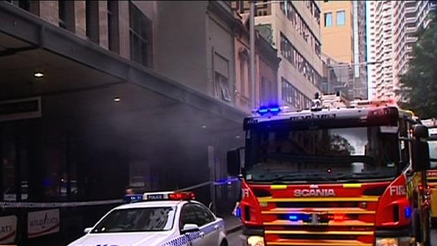 Fire in Sydney CBD causes chaos