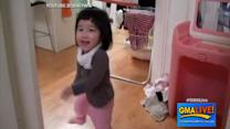 Little Girl Loves Running Away from Dad's Camera