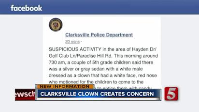 Clarksville Police solve the mystery of the clown passing out candy
