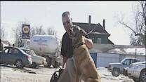 Retired sergeant reunited with war dog companion