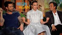 Begin Again's Adam, Keira, and Mark Reflect on Their Very Smelly Shoot