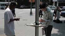 Solar-Powered Cell Phone Charging Stations Invade NYC