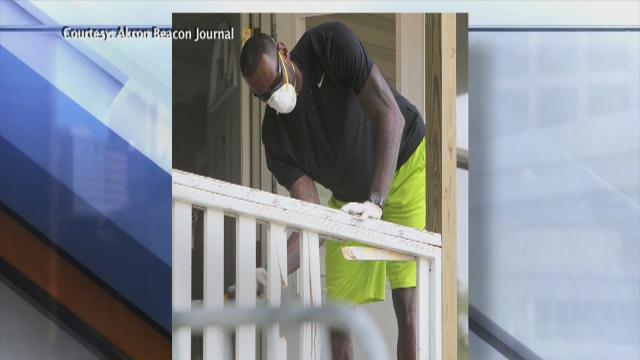 5PM: LeBron and sons help rehab Akron family home of sixth-grader in Wheels for Education mentor program