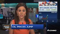 Oil jumps 6%