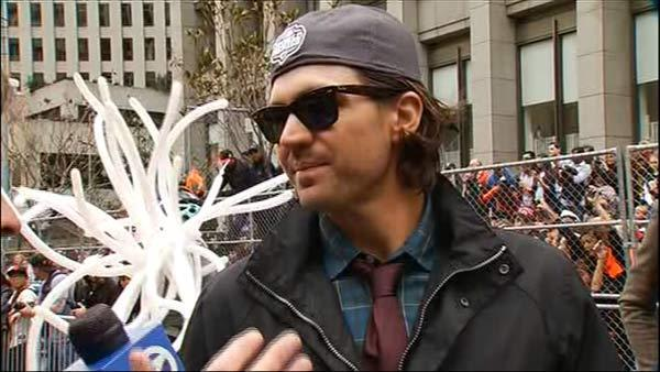 Zito chats with ABC7 during Giants parade
