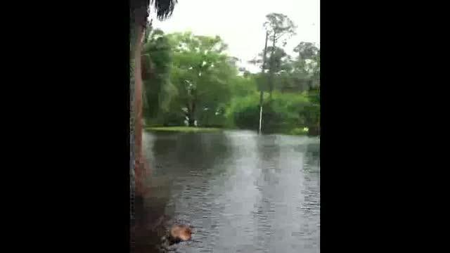 Flooding in Oldsmar caused by Tropical Storm Debby