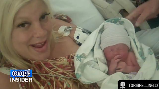 Tori Spelling Shares Video of First Moments With Baby Finn