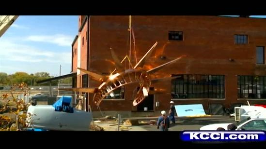 Statue of Liberty crown added to Des Moines skyline