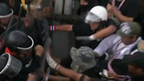 Raw: Thai Protesters Clash With Riot Police