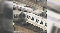 Trains collide outside of Philadelphia