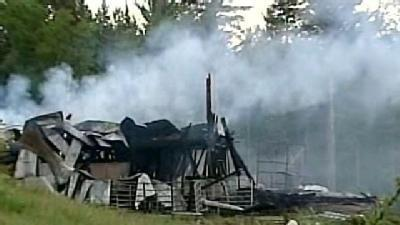 Barns Destroyed In Madison Fire