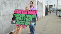 Robot Sign-Wavers Bring in the Business