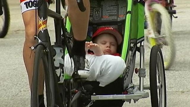 Triathlete's Bike Ride Raises Funds for Young Sandy Victim
