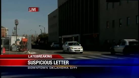 Authorities investigate suspicious substance on letters