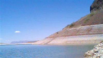 Low Water Level At Elephant Butte
