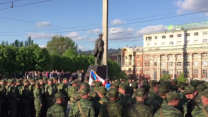 Separatists Rehearse for Large Victory Day Parade in Donetsk
