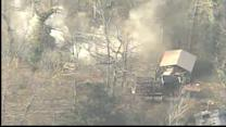 Raw aerials: 2 Mile Lane fire