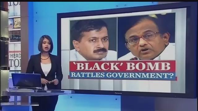 Will Chidambaram take Kejriwal's charges on black money head on?