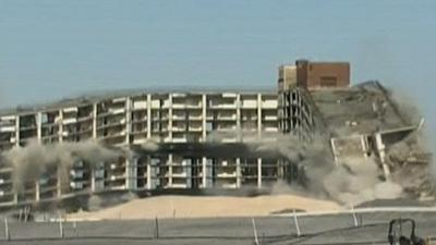 Raw: Hundreds Turnout for NYC Building Implosion