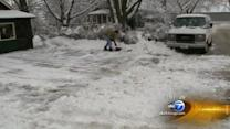Chicago's north suburbs digging out after winter snow storm