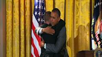 Raw: Obama Gets Hug From Special Olympian