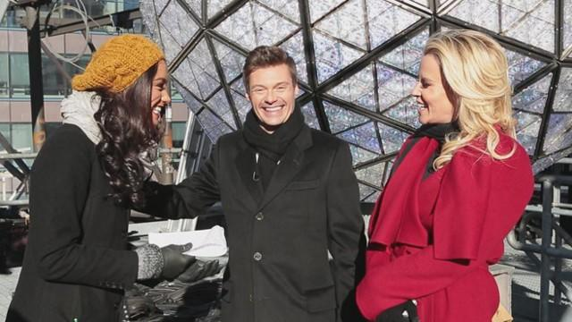 Ryan Seacrest and Jenny McCarthy Prepare for a Rockin' New Year's Eve