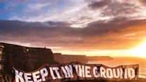 Climate Activists Take to Ireland's Famed Cliffs of Moher