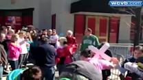 Raw Video: Boston Marathon memorial moved by mourners