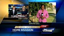 Man confronts home invasion suspect hiding in his house