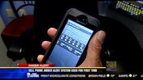Cell phone Amber Alert system used for first time