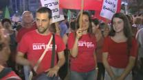 Anti-war demonstrators protest in Tel Aviv