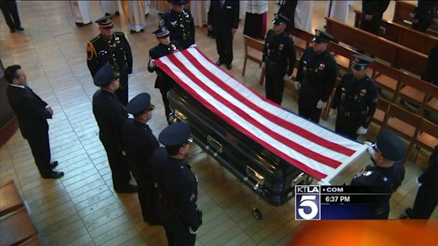 LAPD Officer Sanchez Honored at Memorial Service