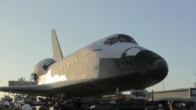 Timelapse: Endeavour's journey to new home