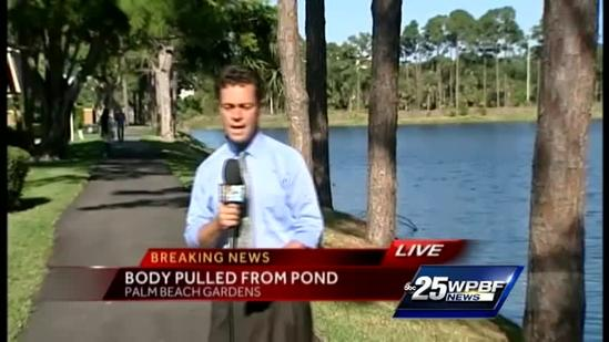 Man's body pulled from pond in Palm Beach Gardens