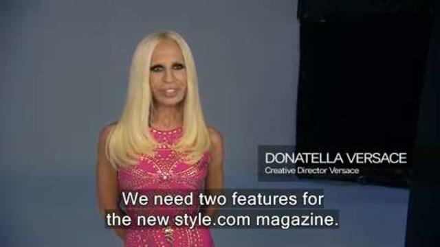 On Set with Donatella Versace for Style.com Magazine