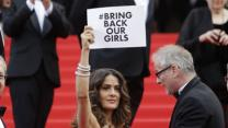 Jolie, Hayek Talk Red Carpet Protests