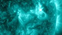 NASA Releases Footage of Powerful Solar Flares