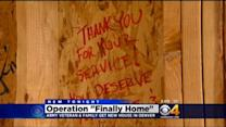 Army Veteran Welcomed With 'Operation Finally Home'