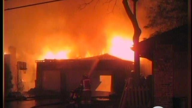Fire destroys home in Waterford Township, Michigan