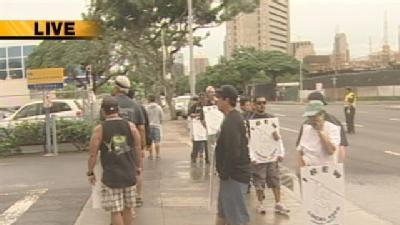 First Full Day Of HECO Strike Begins