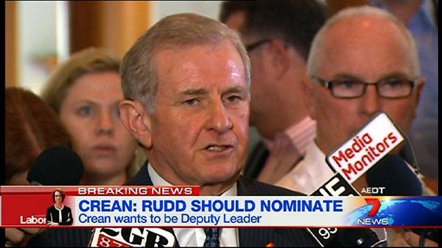 RAW: Crean wants to be Rudd's deputy