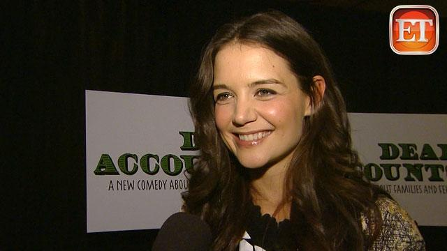 Katie Holmes Beams on Broadway Opening Night