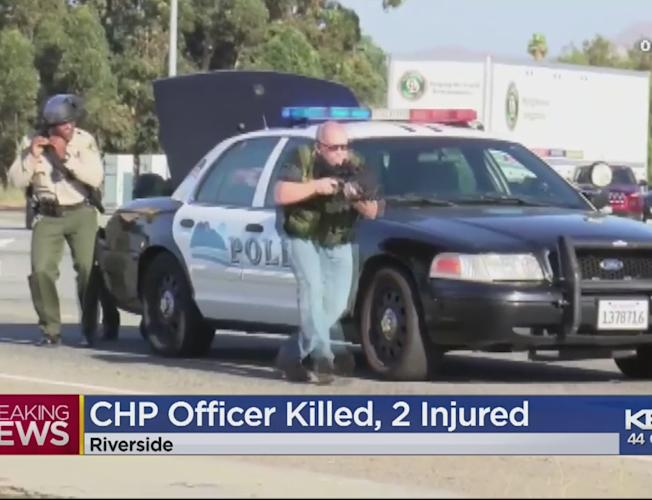 1 CHP Officer Dead, 2 Injured In Shooting On Riverside Freeway