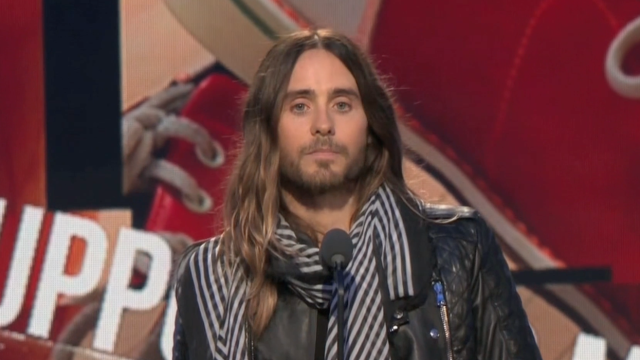 Jared Leto Thanks Lupita Nyong'o in Acceptance Speech