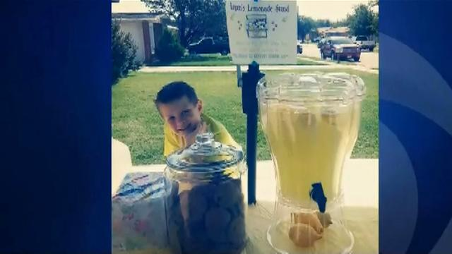 8-year-old boy creates charitable lemonade stand