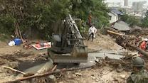Japan Landslide Rescuers Struggle in Heavy Rain